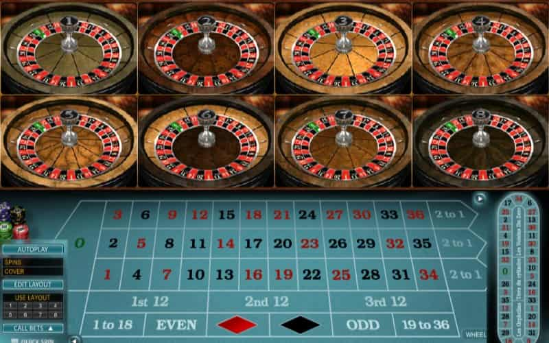 multi wheel online roulette