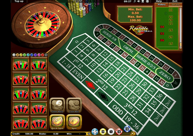 multiball roulette game